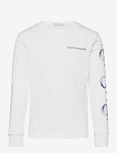 LOGO REPEAT GRAPHIC LS T-SHIRT - langärmelig - bright white