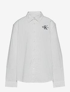 HYBRID CHEST LOGO SHIRT - shirts - bright white
