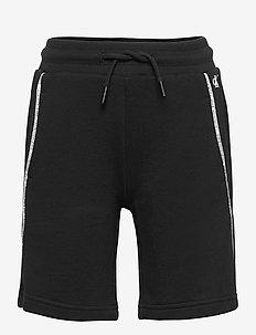 LOGO PIPING SHORTS - shorts - ck black