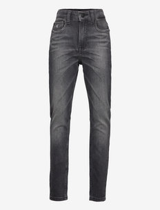 TAPERED ATH WASHED BLK STR - jeans - athletic washed black stretch