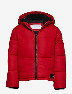 ESSENTIAL PUFFER JACKET - puffer & padded - barbados cherry
