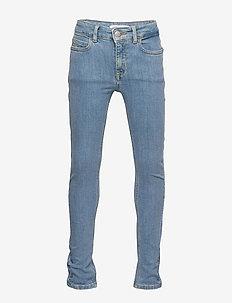 SKINNY HR PINE FOIL BL STR - jeans - pine foil blue stretch