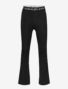 LOGO WAISTBAND FLARE LEGGING - leggings - ck black