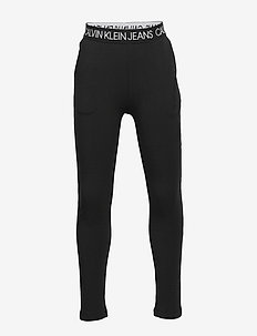 LOGO WAISTBAND PANTS - CK BLACK