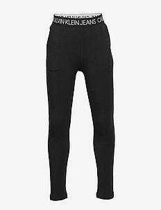 LOGO WAISTBAND PANTS - joggings - ck black