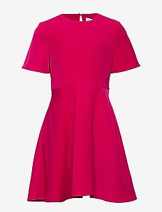 SATIN MATT DRESS - PETUNIA PINK