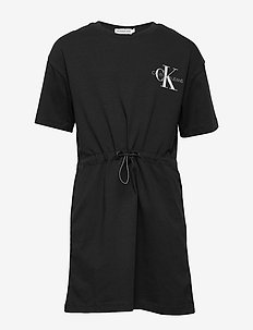 SMALL MONOGRAM SS DR - robes - ck black