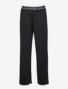 LOGO WAISTBAND PLISS - pantalons - ck black