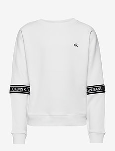 LOGO TAPE SWEATSHIRT - sweatshirts - bright white
