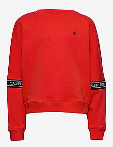 LOGO TAPE SWEATSHIRT - sweatshirts - fierce red