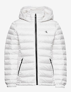 FITTED LIGHT DOWN JACKET - puffer & padded - bright white
