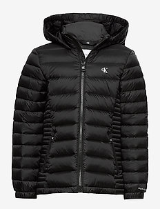 FITTED LIGHT DOWN JACKET - puffer & padded - ck black