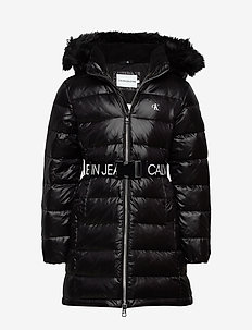 ESSENTIAL DOWN LONG COAT - puffer & padded - ck black