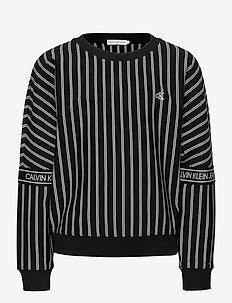 STRIPE LOGO TAPE SWEATSHIRT - sweatshirts - ck black city yd stripe