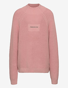 OCO MOCK NECK BOXY SWEATER - sweatshirts - soothing pink
