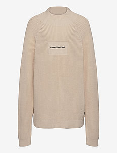 OCO MOCK NECK BOXY SWEATER - sweatshirts - whitecap gray