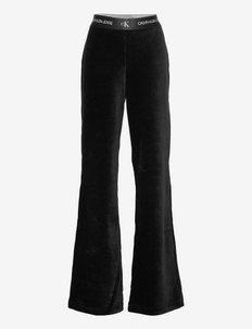 RIB VELOUR STRAIGHT PANTS - trousers - ck black