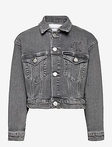 ELASTIC JACKET AUT LGT G ST - jeansjacken - authentic light grey stretch