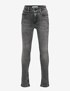 SKINNY HR MN DRK WASH GREY ST - jeans - monogram dark wash grey stretch