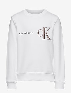 RAISED MONOGRAM SWEATSHIRT - sweatshirts - bright white