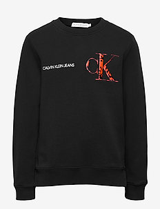 RAISED MONOGRAM SWEATSHIRT - sweatshirts - ck black