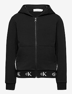 MONOGRAM STRETCH ZIP THROUGH - hettegensere - ck black