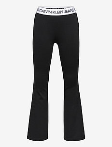 LOGO WAISTBAND PUNTO PANTS - trousers - ck black