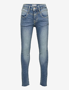 SKINNY HR AUTH BL HL STR - jeans - authentic high low stretch