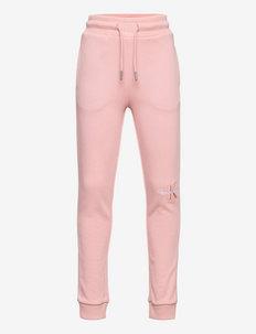 MONOGRAM EMBROIDERY SWEATPANTS - sweatpants - delicate rose