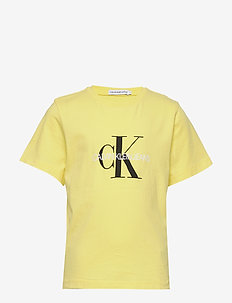 MONOGRAM LOGO T-SHIRT - short-sleeved - frozen lemon