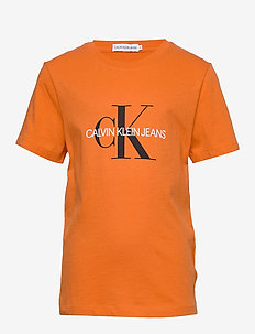 MONOGRAM LOGO T-SHIRT - krótki rękaw - orange tulip