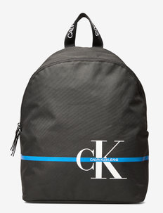 MONOGRAM STRIPE BACK - sacs a dos - ck black