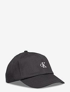 MONOGRAM BASEBALL CAP - czapki - ck black