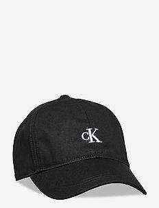 MONOGRAM BASEBALL CAP - caps - ck black