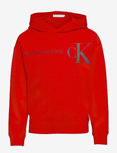 REFLECTIVE LOGO HOODIE - hoodies - fierce red
