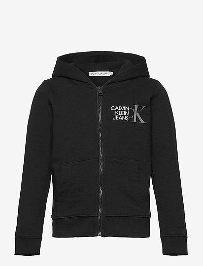 HYBRID LOGO ZIP THROUGH - hoodies - ck black