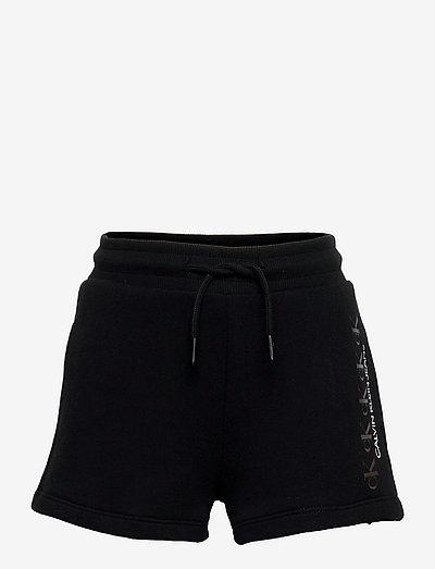 CK REPEAT FOIL KNIT SHORTS - shorts - ck black