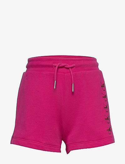 CK REPEAT FOIL KNIT SHORTS - shorts - hot magenta