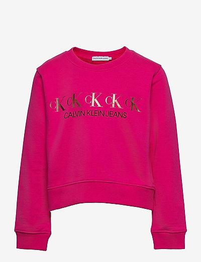 CK REPEAT FOIL SWEATSHIRT - sweatshirts & hættetrøjer - hot magenta
