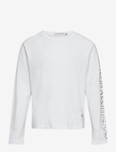 SHADOW LOGO LS T-SHIRT - langärmelig - bright white