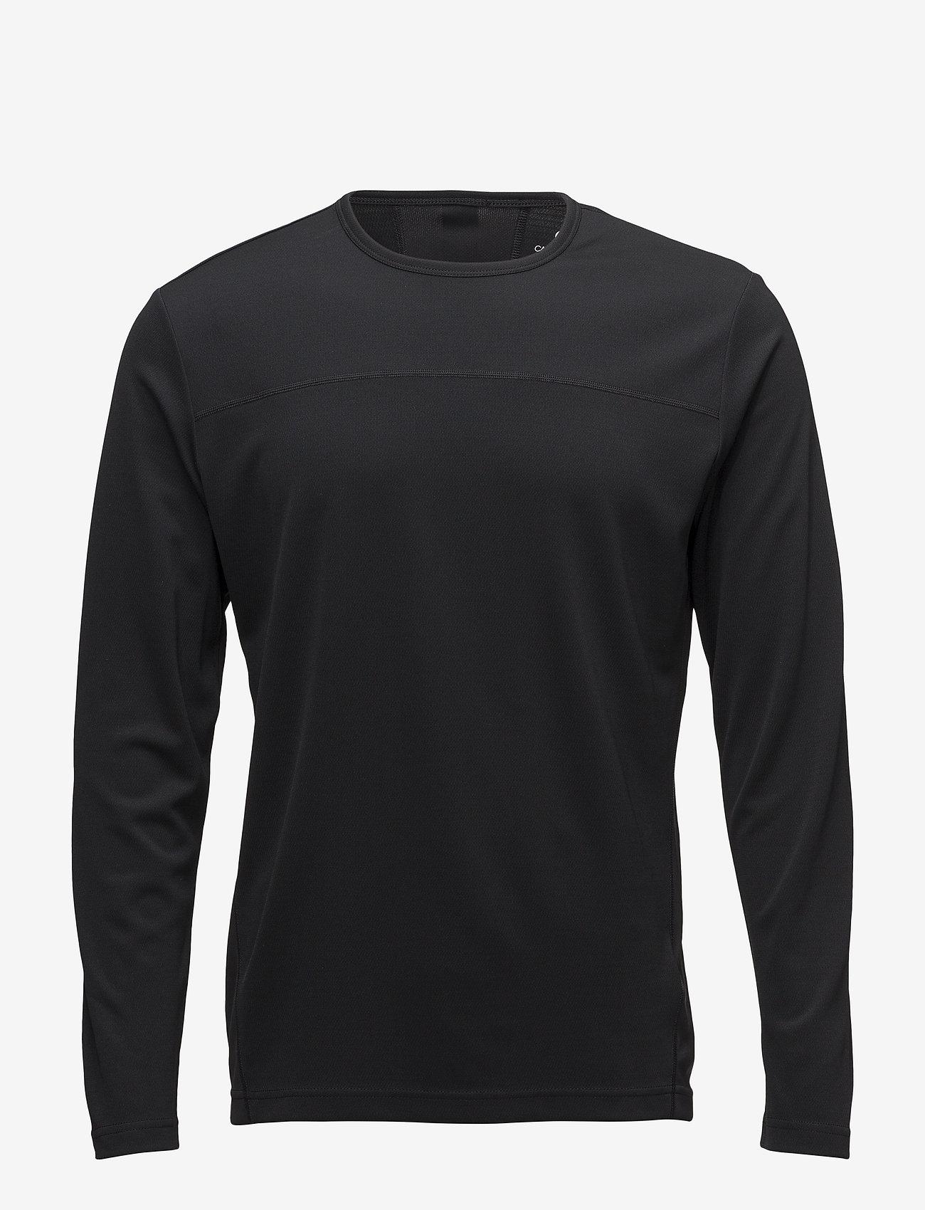 Calvin Klein Performance - LS TEE - longsleeved tops - ck black - 0