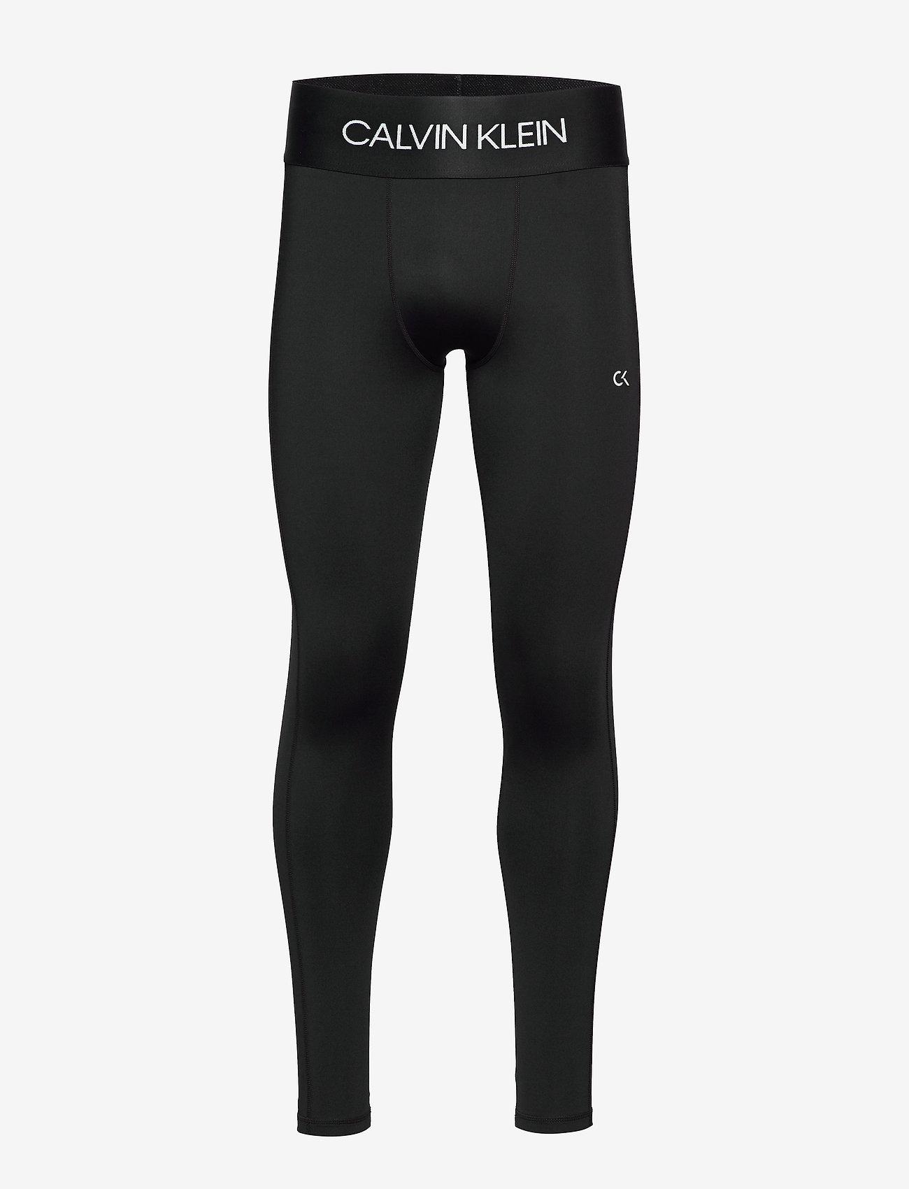 Calvin Klein Performance - FULL LENGTH TIGHT - running & training tights - ck black/bright white - 0