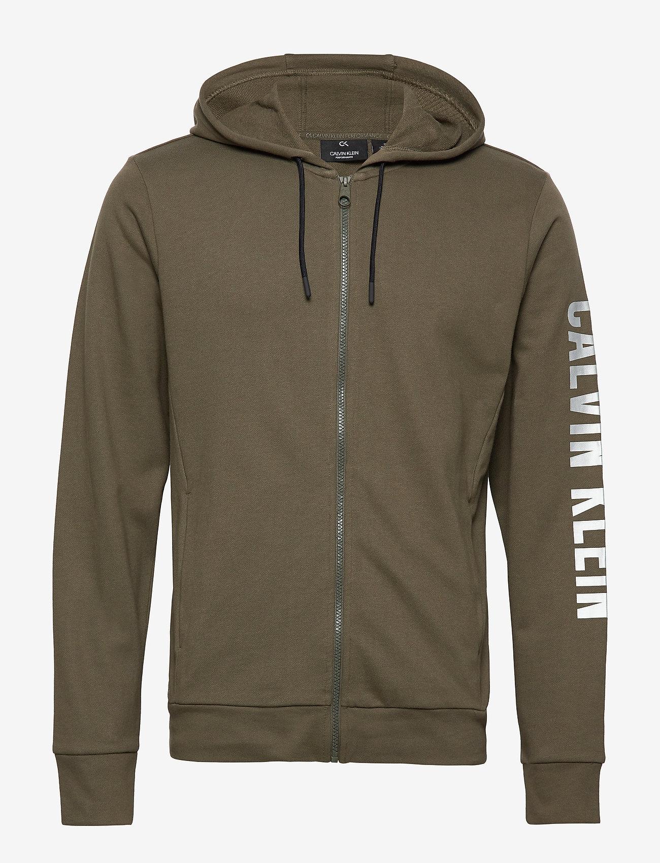 Calvin Klein Performance - FULL ZIP HOODED JACKET - hoodies - grape leaf - 0