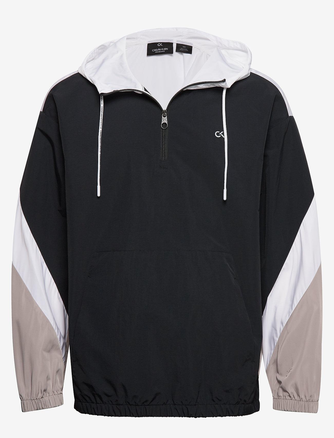 Calvin Klein Performance - Hooded Woven Jacket - anoraks - ck black - 0