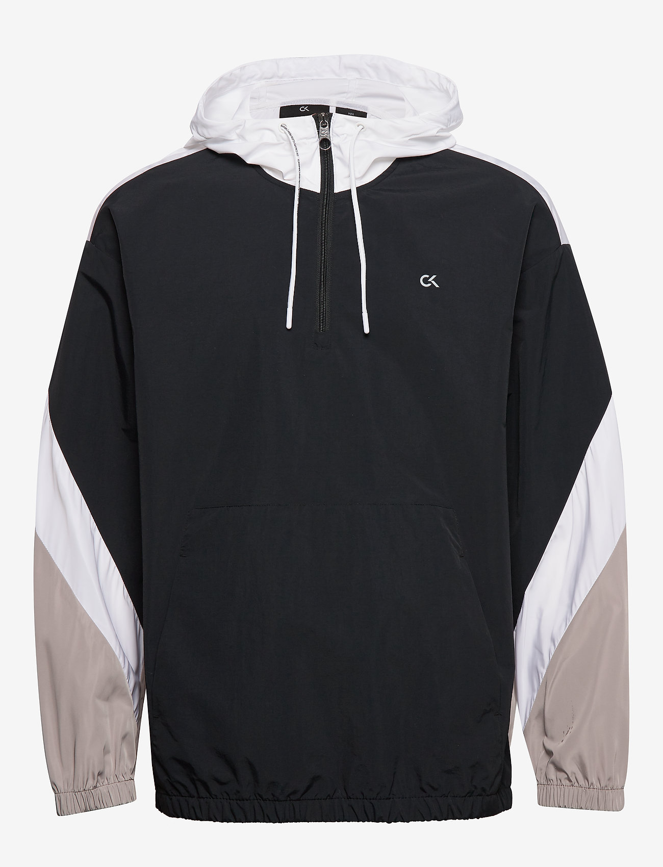 Calvin Klein Performance - Hooded Woven Jacket - anoraks - ck black - 1