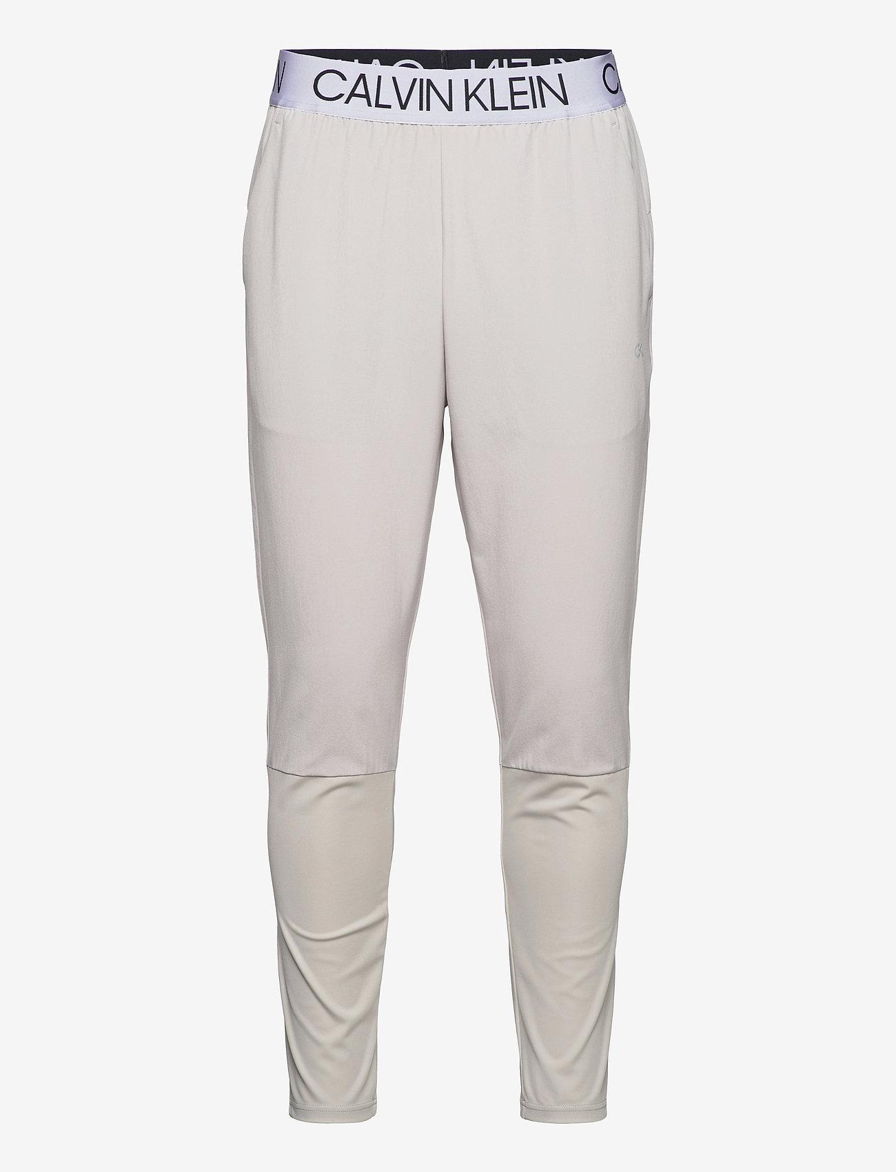 Calvin Klein Performance - WO - MIX FABRIC PANT - spodnie treningowe - cloud nine - 0