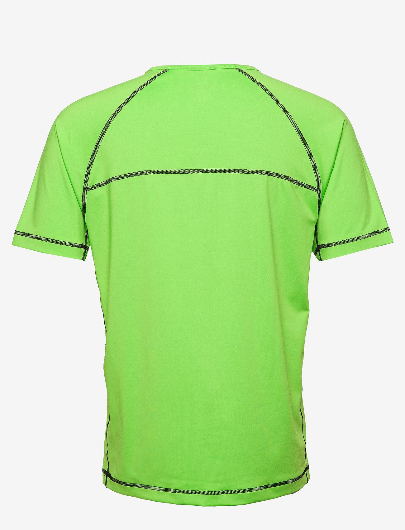 Calvin Klein Performance - SHORT SLEEVE T-SHIRT - sports tops - green flash/green flash/majoli - 1