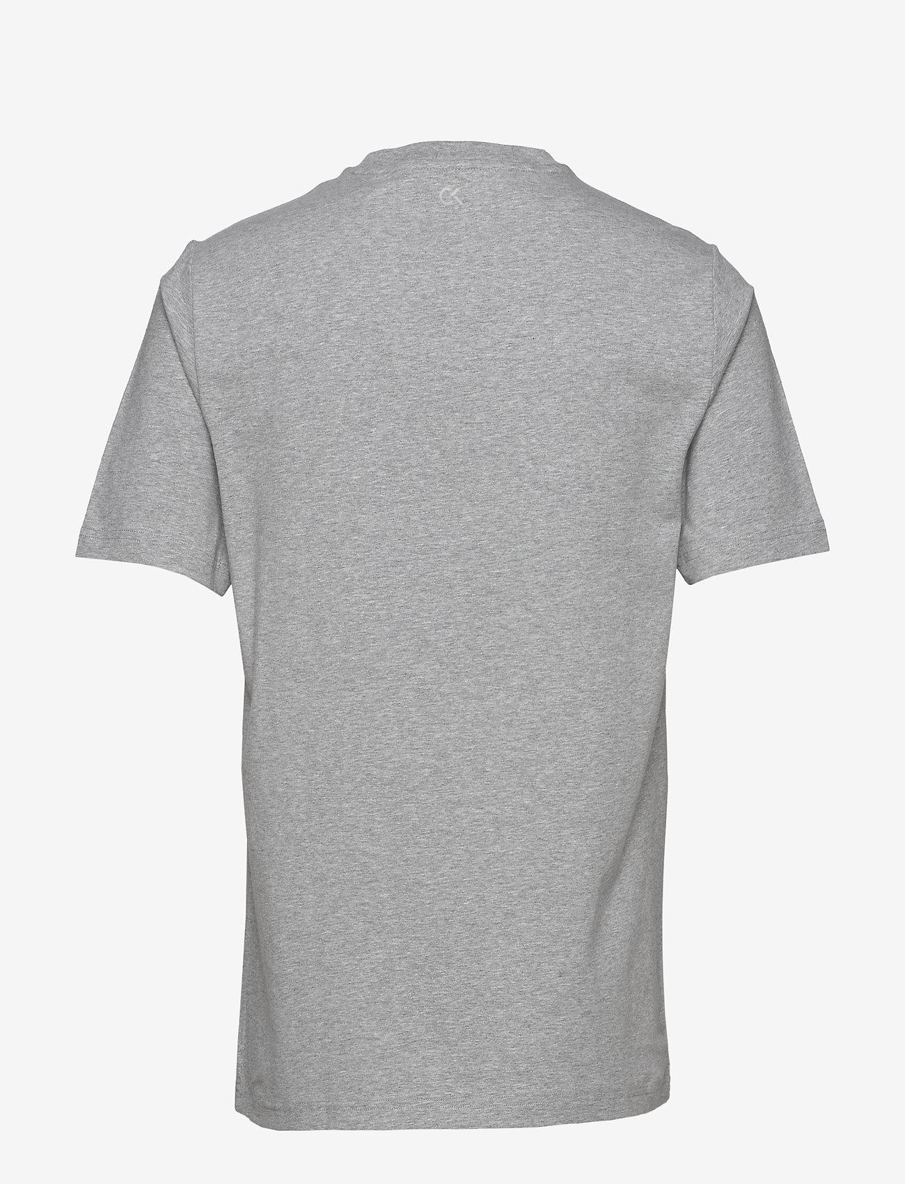 Calvin Klein Performance - SHORT SLEEVE T-SHIRT - sports tops - lt grey heather/ck black - 1