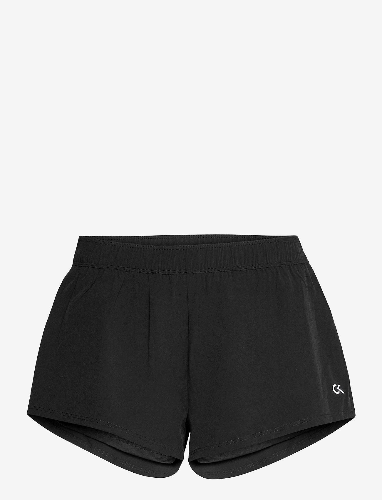 Calvin Klein Performance - WOVEN SHORT W/ INNER - spodenki treningowe - ck black - 0