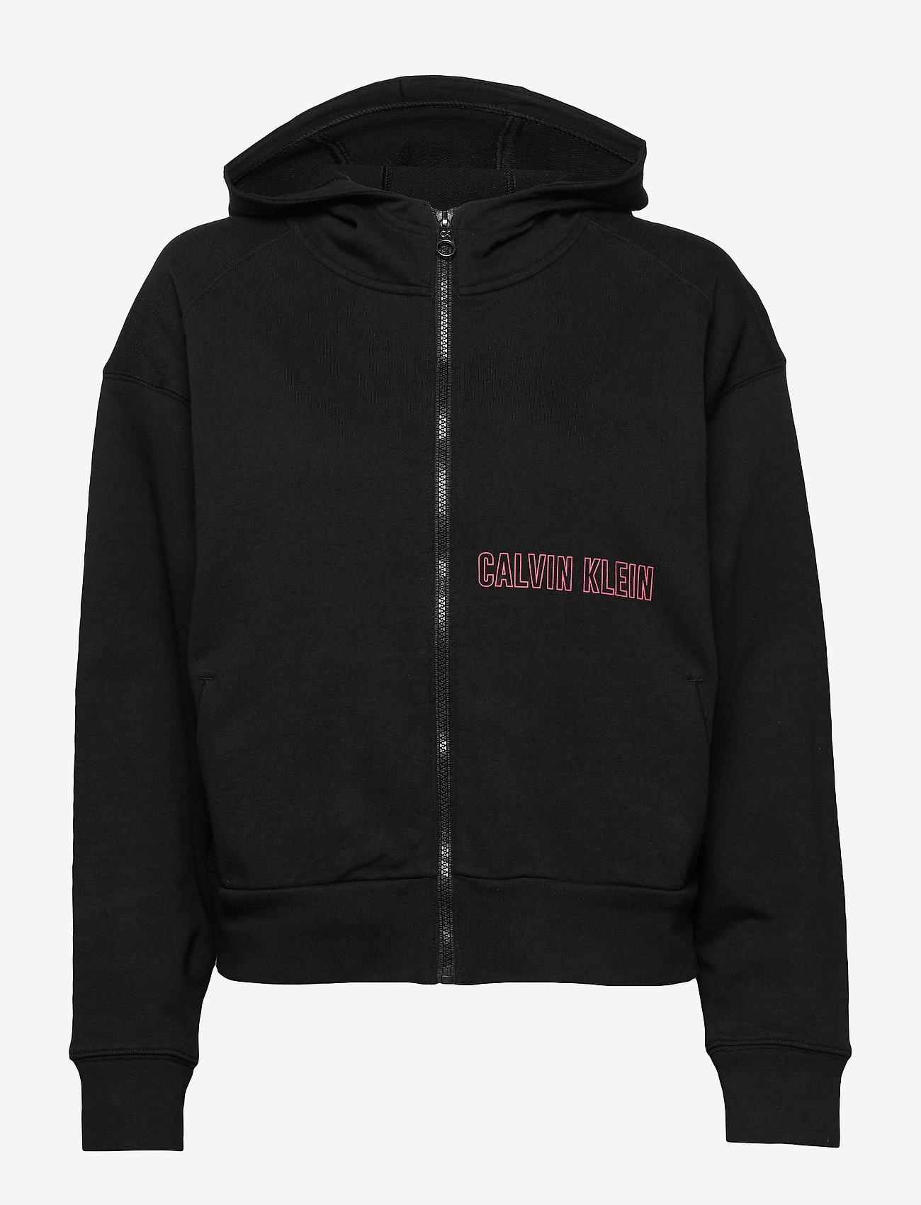 Calvin Klein Performance - FULL ZIP HOODIE - hoodies - ck black - 0